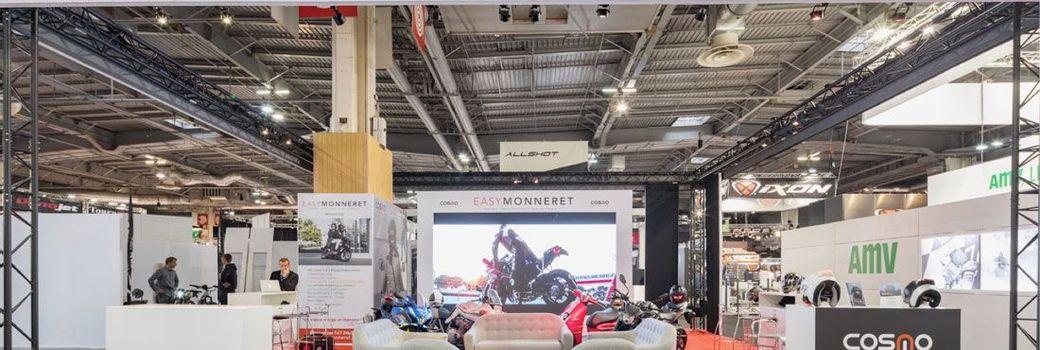 Stand d'exposition au Mondial de la Moto