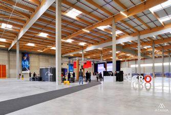 Atawa aménagement d'un entrepôt pour l'inauguration d'une plateforme