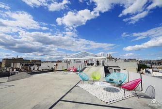 Atawa location tente Cristal sur un rooftop parisien