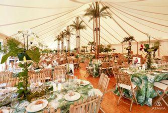Atawa location chapiteau bambou pour un mariage sur le thème jungle en Normandie